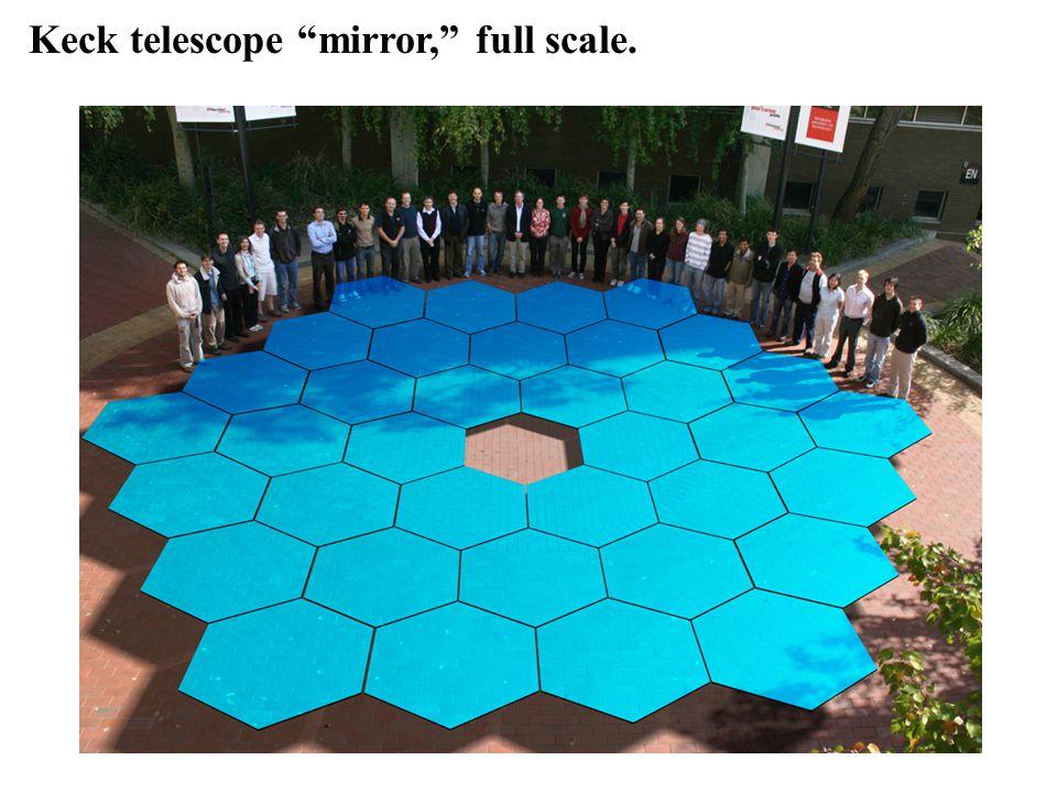 Keck telescope mirror, full scale.