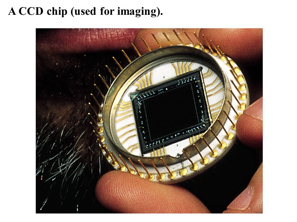 A CCD chip (used for imaging).