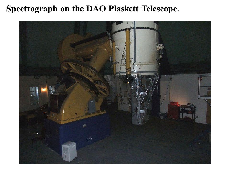 Spectrograph on the DAO Plaskett Telescope.