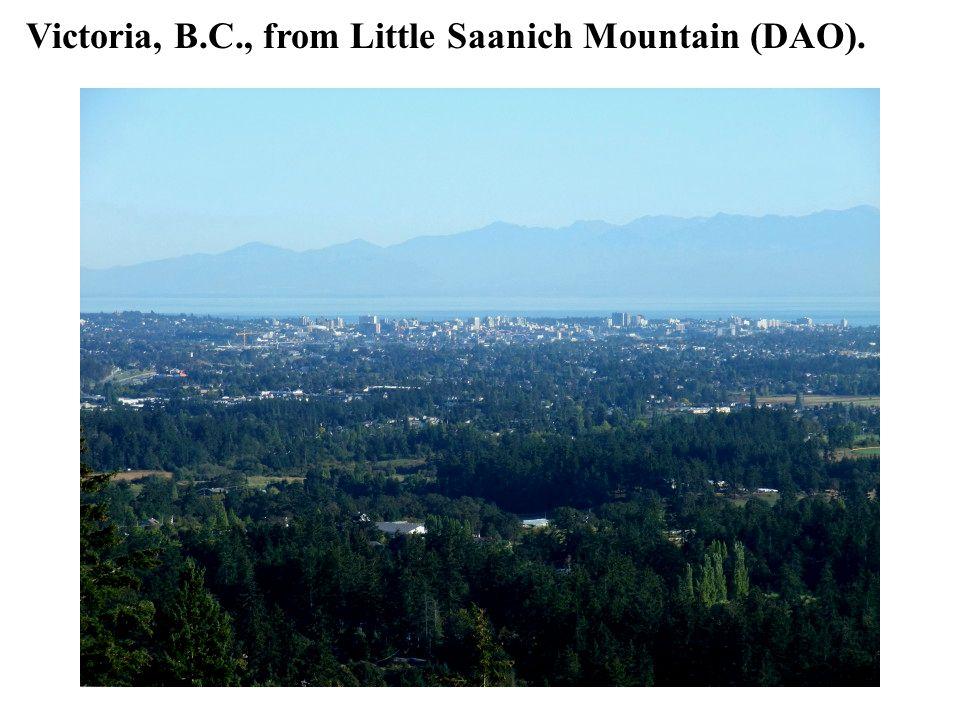 Victoria, B.C., from Little Saanich Mountain (DAO).
