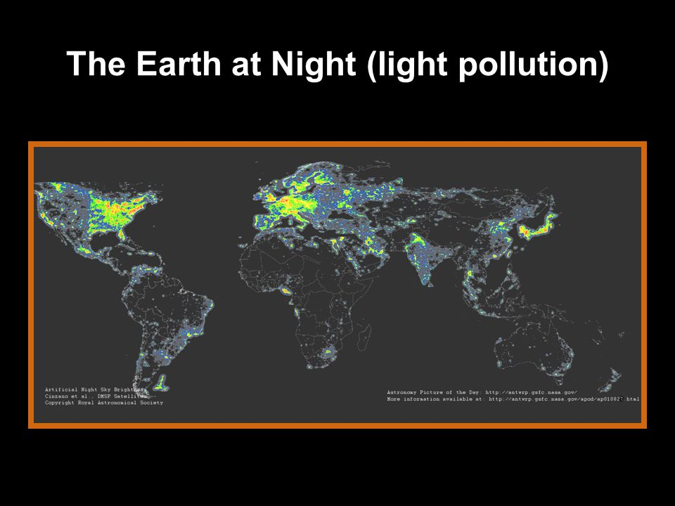 The Earth at Night (light pollution)