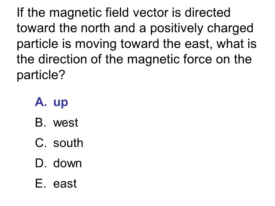A uniform magnetic field is parallel to and in the direction of the positive z axis.