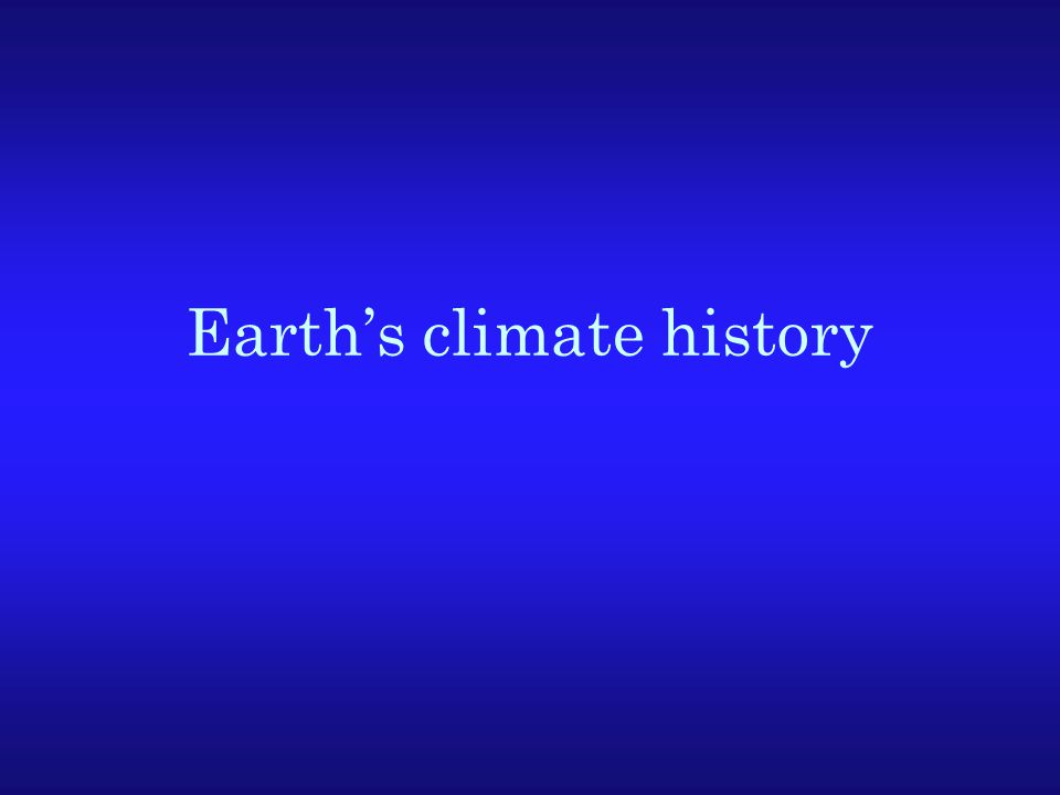 Earth's climate history