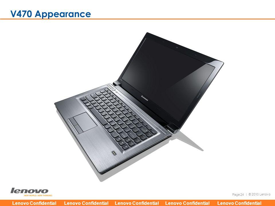 Lenovo Confidential Lenovo Confidential Lenovo Confidential Lenovo Confidential Lenovo Confidential Page 24 | © 2010 Lenovo V470 Appearance
