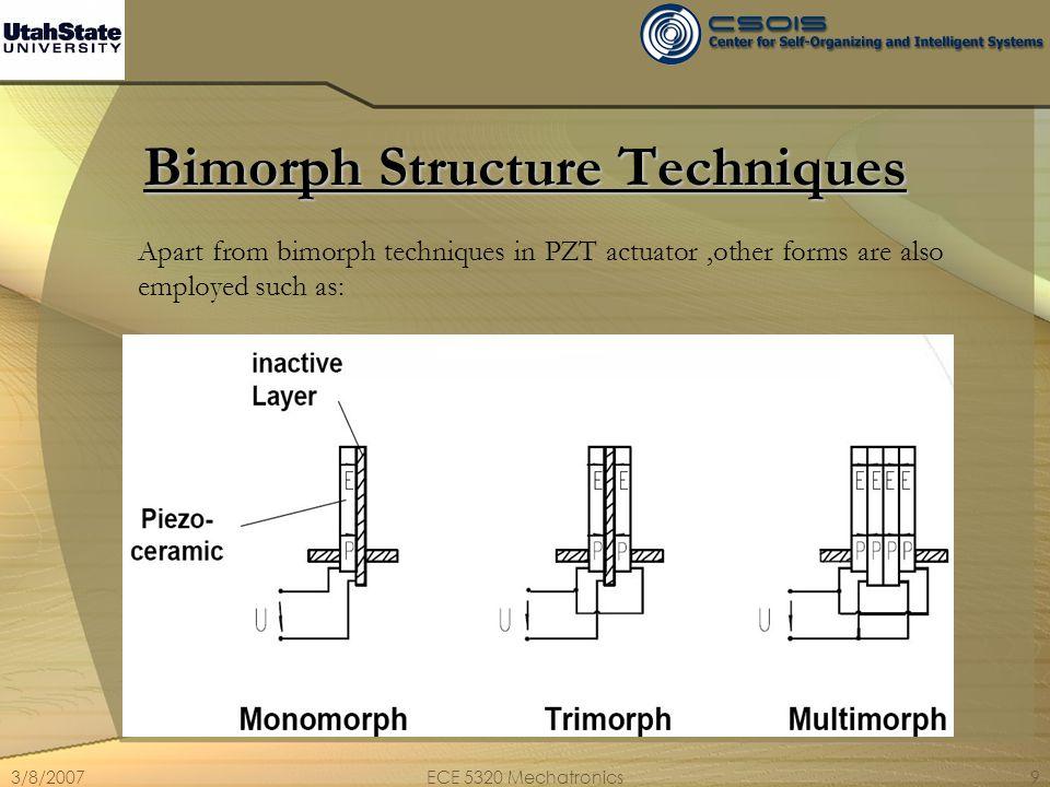 3/8/2007ECE 5320 Mechatronics10 Major Applications Nano-positioning.
