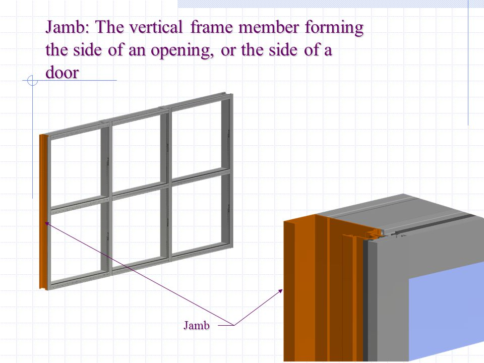 Sill: The bottom horizontal in the framing system Sill