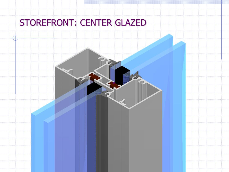"""Storefront Product Selection- Typical System Dimensions 1-3/4"""" x 4-1/2"""" Non-thermal 1-3/4"""" x 4-1/2"""" Non-thermal 2"""" x 4-1/2"""" Non-Thermal & Thermal 2"""" x"""