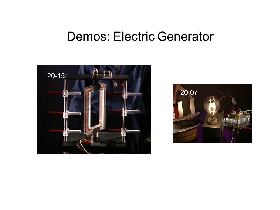 Demos: Electric Generator 20-15 20-07
