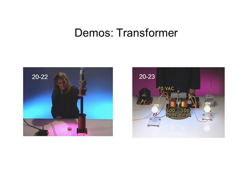 Demos: Transformer 20-23 20-22