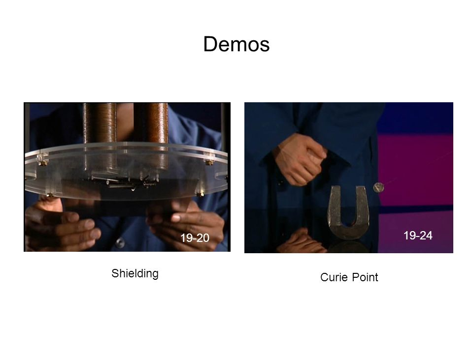 Demos 19-20 19-24 Shielding Curie Point