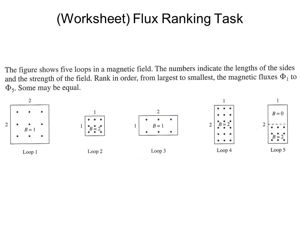 (Worksheet) Flux Ranking Task