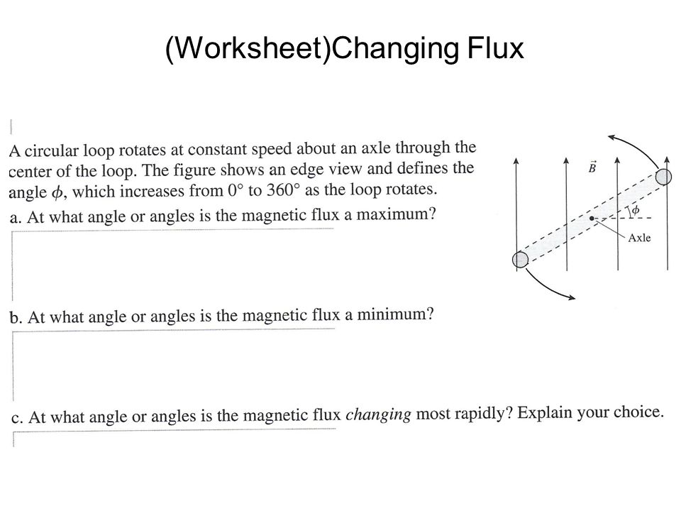 (Worksheet)Changing Flux