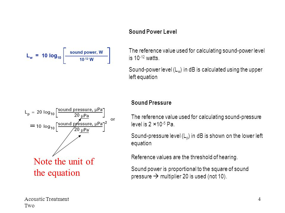 Acoustic Treatment Two 5 Why 42dBA as stated in previous lecture???