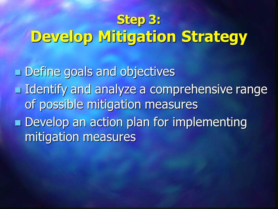 Step 2: Assess Risks n Identify hazards n Assess risk of hazards n Inventory community assets n Determine vulnerability of assets to the hazards Hazar