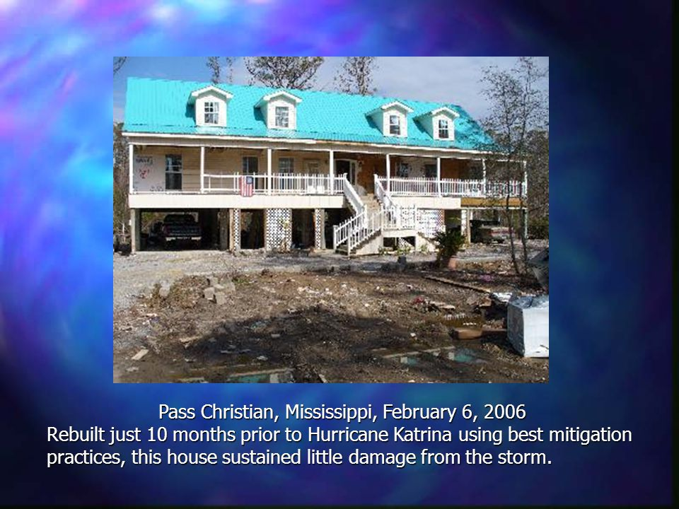 Sweet Lake, Louisiana, Sept 24, 2005 Elevated homes near Lake Charles survive Hurricane Rita