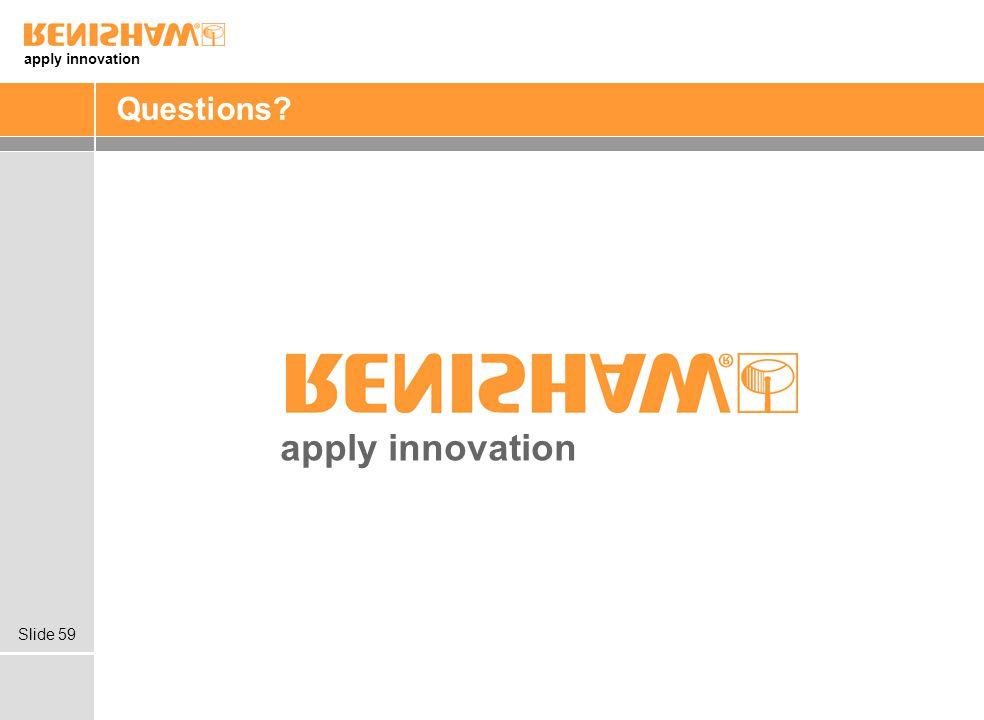 apply innovation Slide 59 Questions? apply innovation