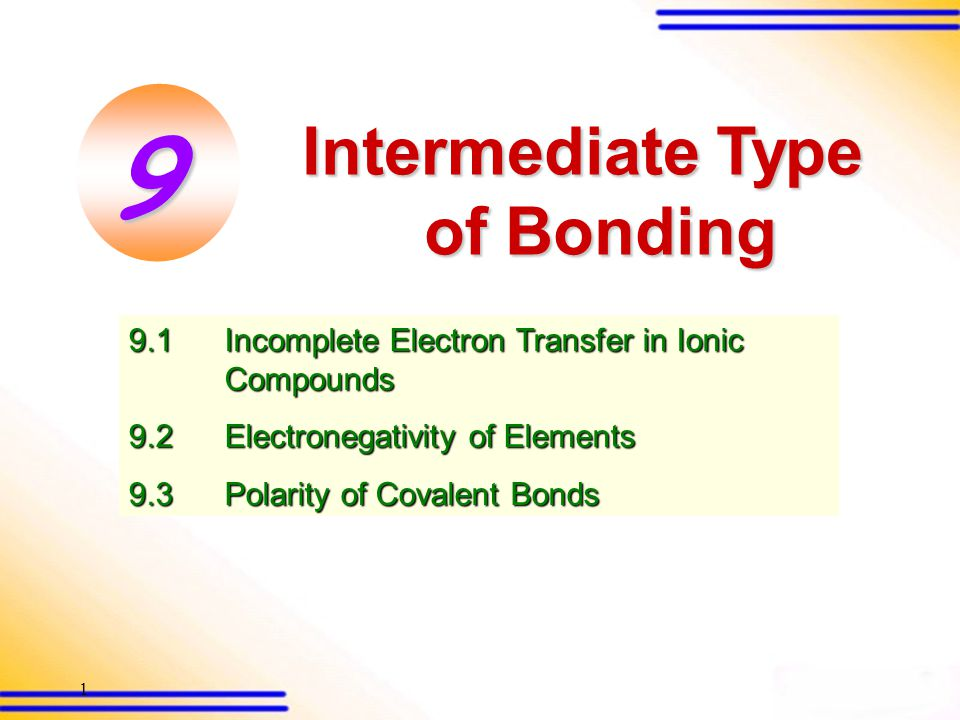 92 9.3 Polarity of covalent bonds (SB p.257) The dipole moment of a molecule is based on two factors: 1.Bond polarity This depends on the electronegativity of the atoms involved in a bond.