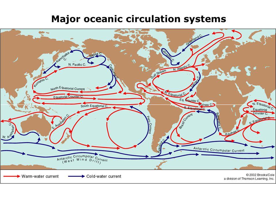 Major oceanic circulation systems