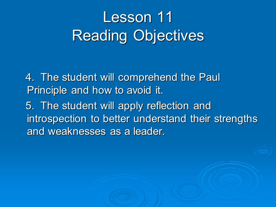 Lesson 11 Discussion Objectives 1.