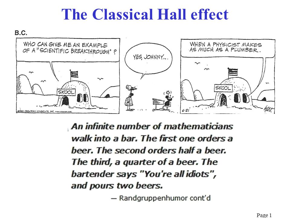 Page 1 The Classical Hall effect