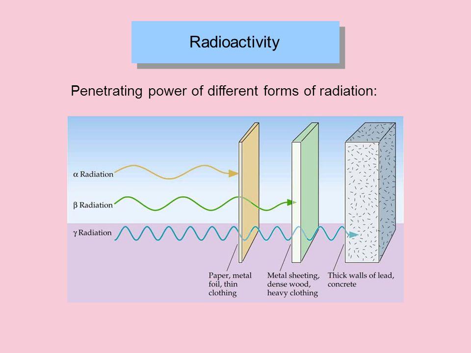 Radioactivity Radioactive decay:  -decay Proton Neutron a Neutron may split into a Proton plus an Electron Electron