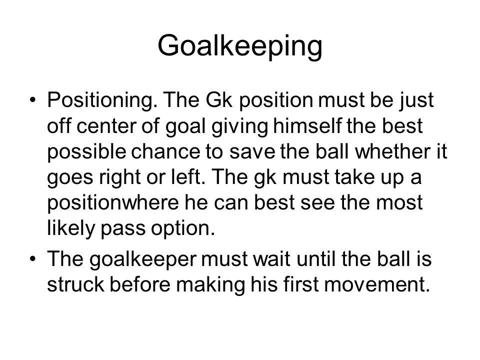 Goalkeeping Positioning.