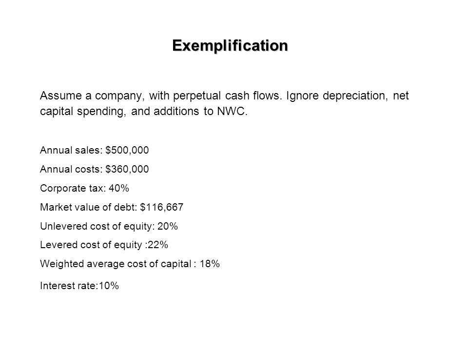 Cash flow to equity (to shareholders) CF to S/H = NI + Depr.