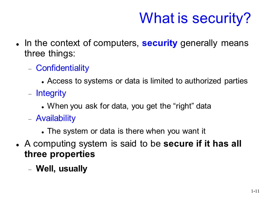 1-11 What is security.