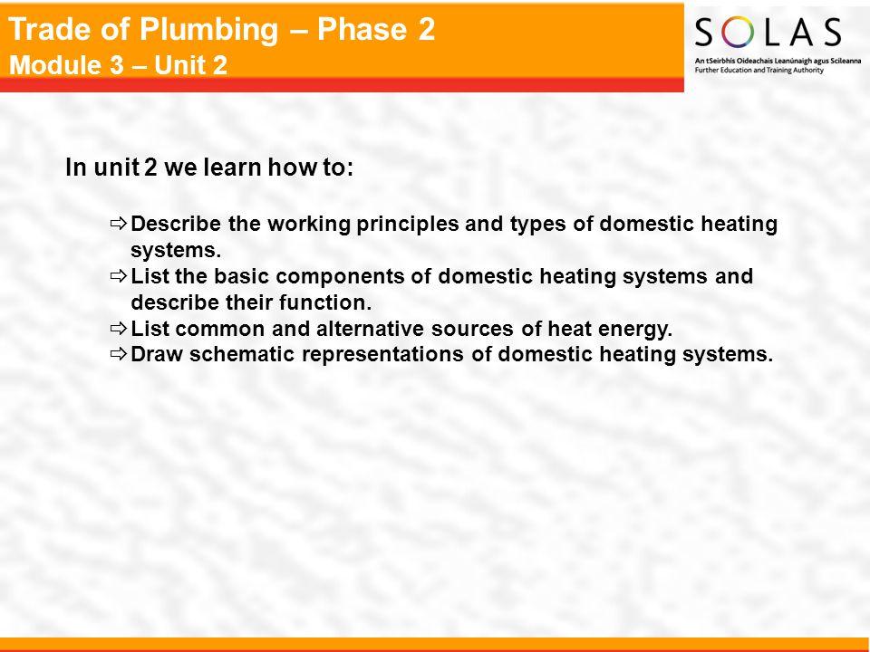 Trade of Plumbing – Phase 2 Module 3 – Unit 2 Sizing of Expansion Vessels System LoadSize of VesselInternal Gas PressureSafety Valve Pressure (kW)(Litres)(Bar)(Bar) 340.5 – 1.03 640.5 – 1.03 1280.5 – 1.03 18120.5 – 1.03 24180.5 – 1.03
