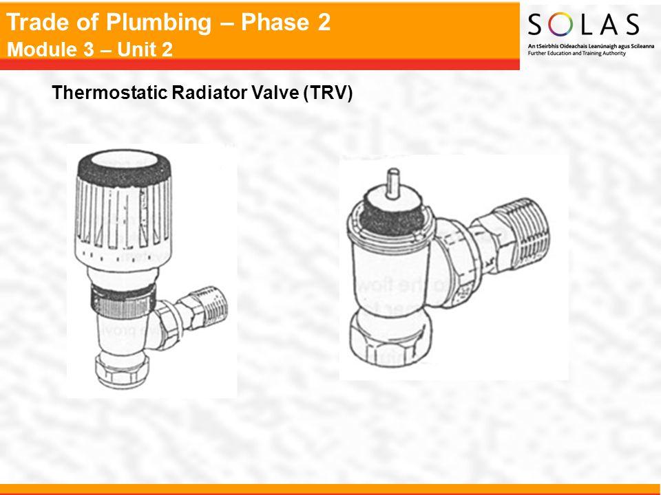 Trade of Plumbing – Phase 2 Module 3 – Unit 2 Thermostatic Radiator Valve (TRV)