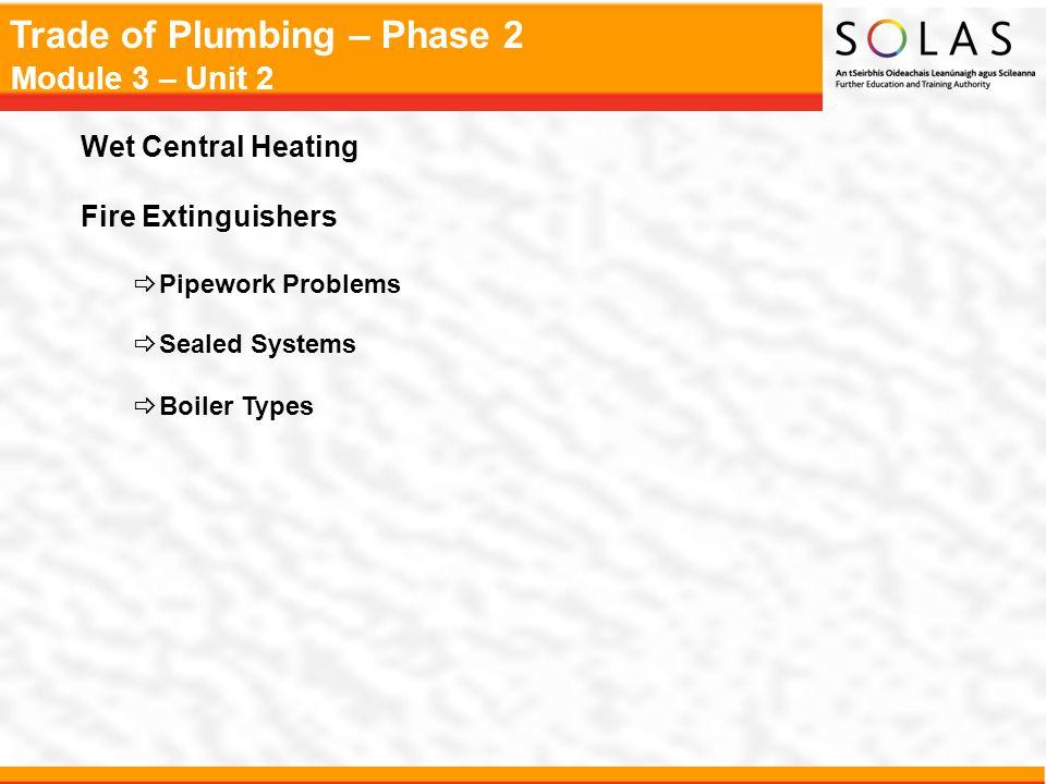 Trade of Plumbing – Phase 2 Module 3 – Unit 2 Radiator Controls  Lockshield  Customer Control
