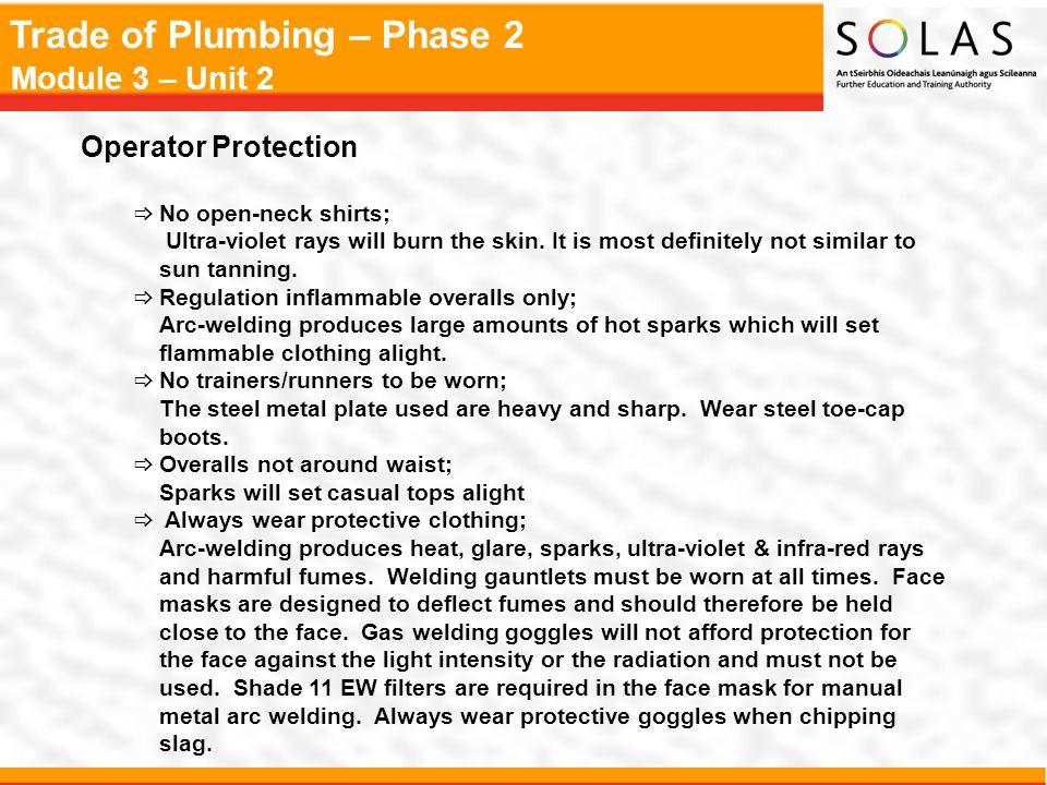 Trade of Plumbing – Phase 2 Module 3 – Unit 2 Basic Pipework Layouts Gravity Circuit