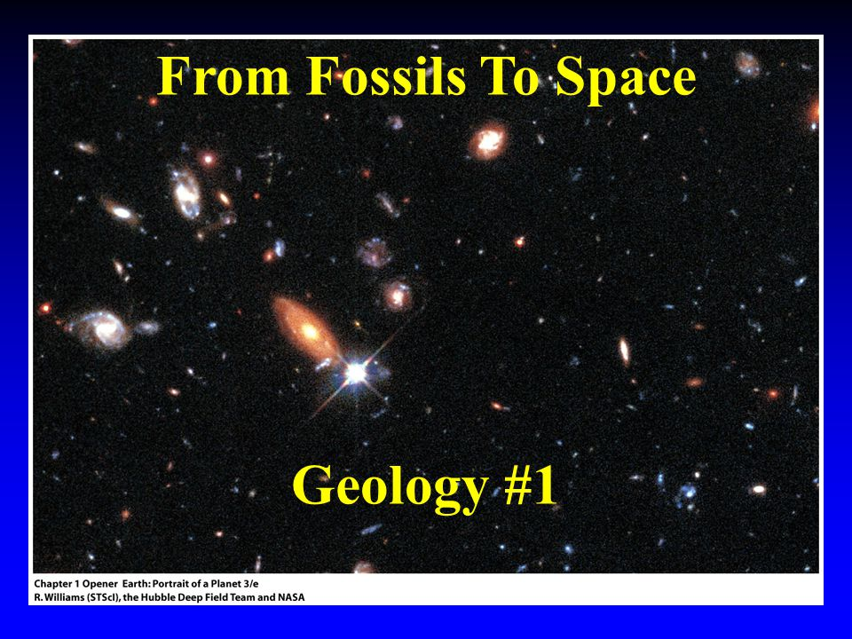From Fossils To Space Geology #1