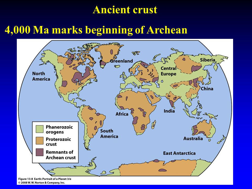 Ancient crust 4,000 Ma marks beginning of Archean