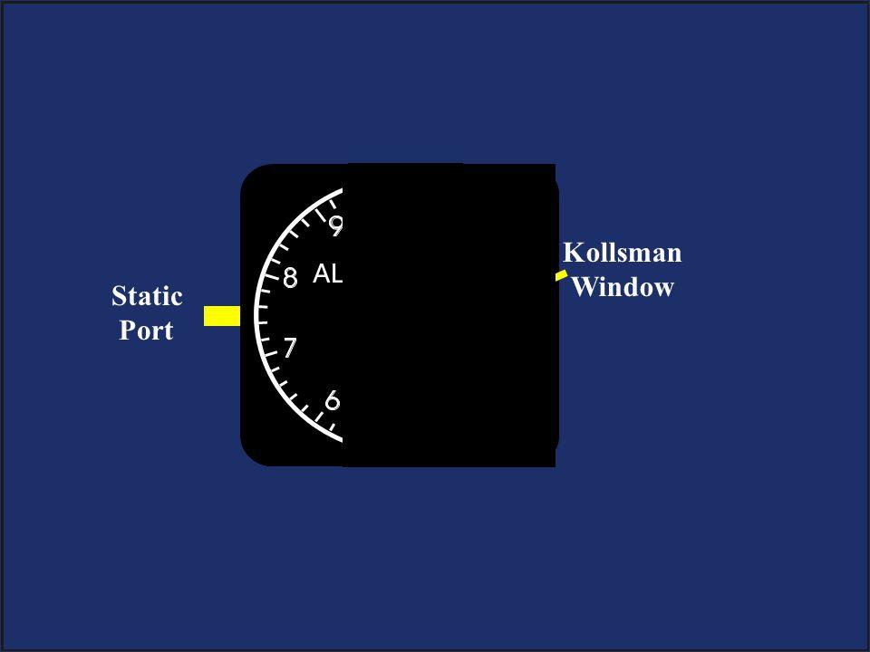 Static Port Kollsman Window
