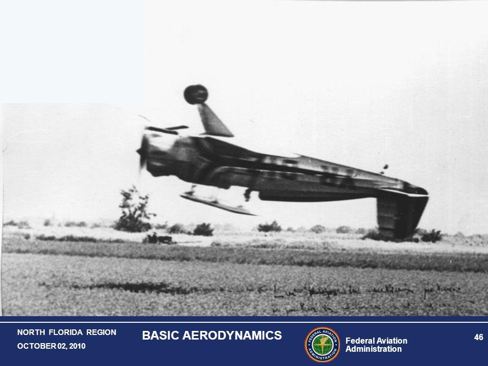 Federal Aviation Administration 46 NORTH FLORIDA REGION OCTOBER 02, 2010 BASIC AERODYNAMICS