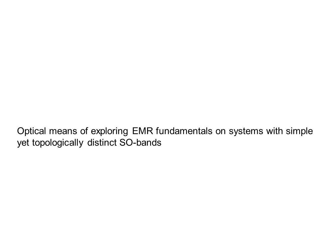 Optical means of exploring EMR fundamentals on systems with simple yet topologically distinct SO-bands