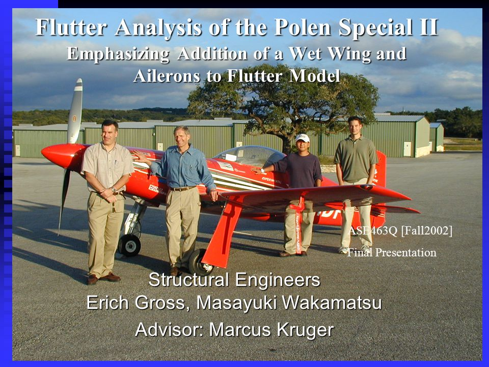 Results: Case 2 (New Fuel Tanks, Antisymmetric) Outline 1)Polen & Project background 2)Flutter 3)AMAFALA 4)Results 5)Conclusion  Flutter occurs at roughly 350 knots  Note: This is identical to Case 1  New fuel tanks empty