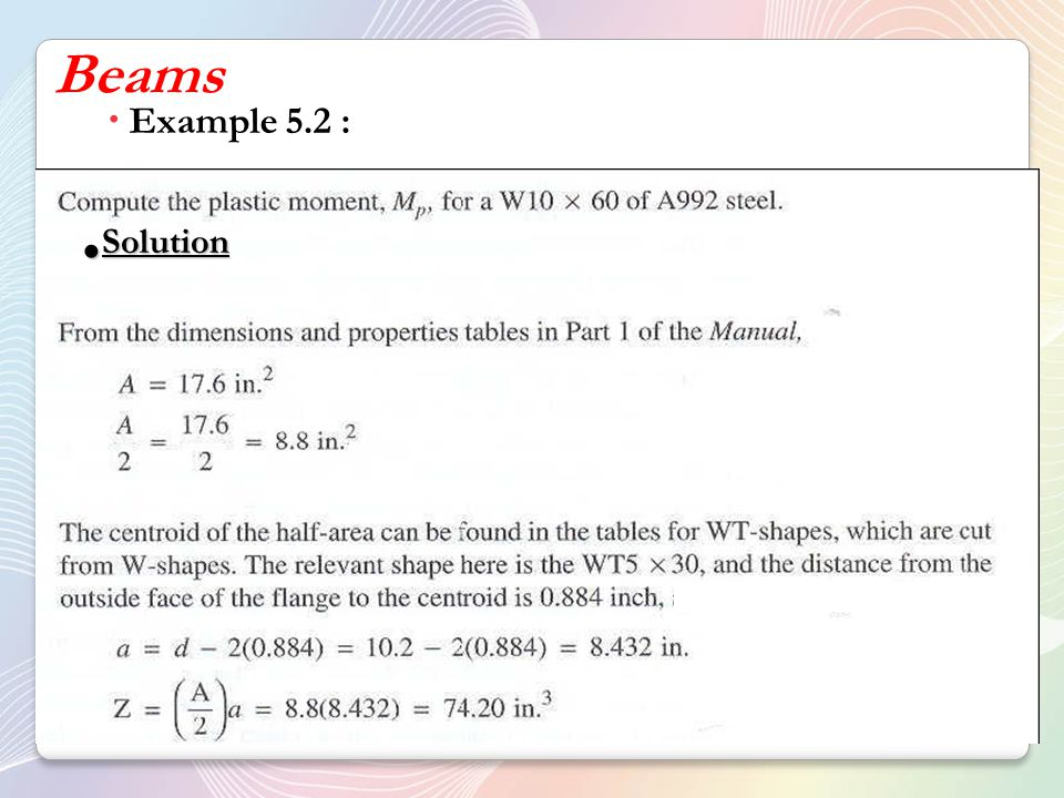  Example 5.2 : Solution Solution
