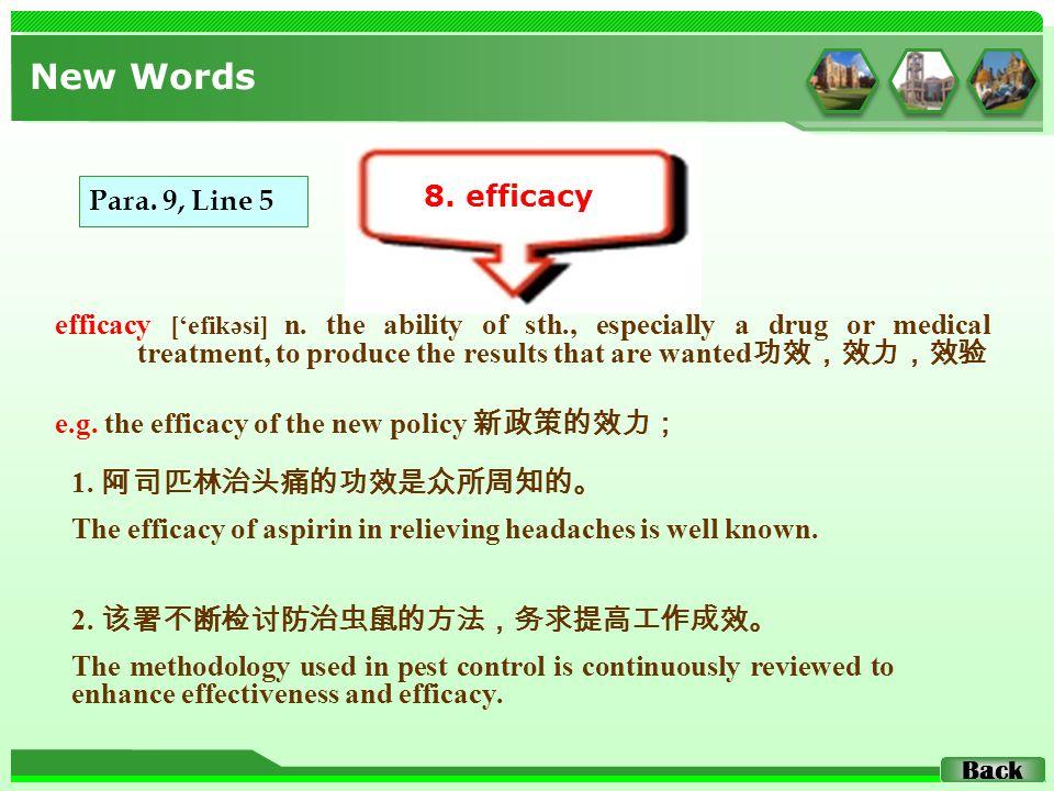 efficacy ['efikəsi] n.