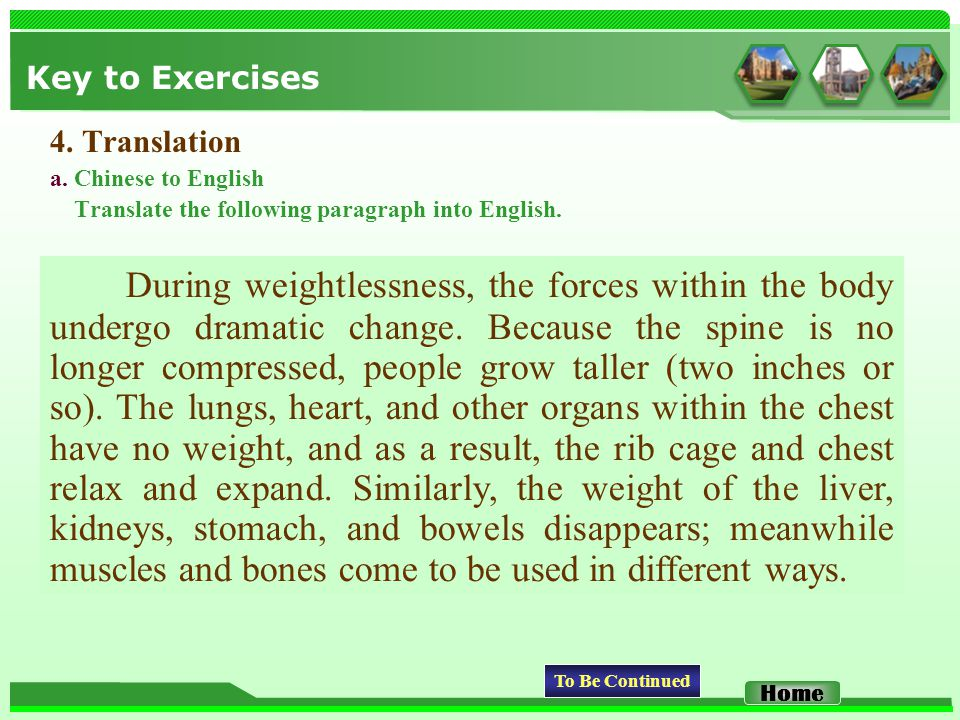 Key to Exercises 4. Translation a.