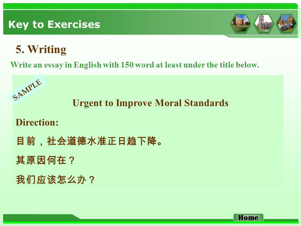 Key to Exercises 5.