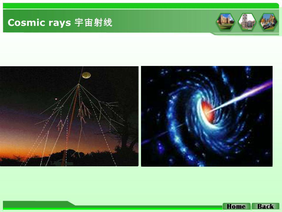 Cosmic rays 宇宙射线 Home Back