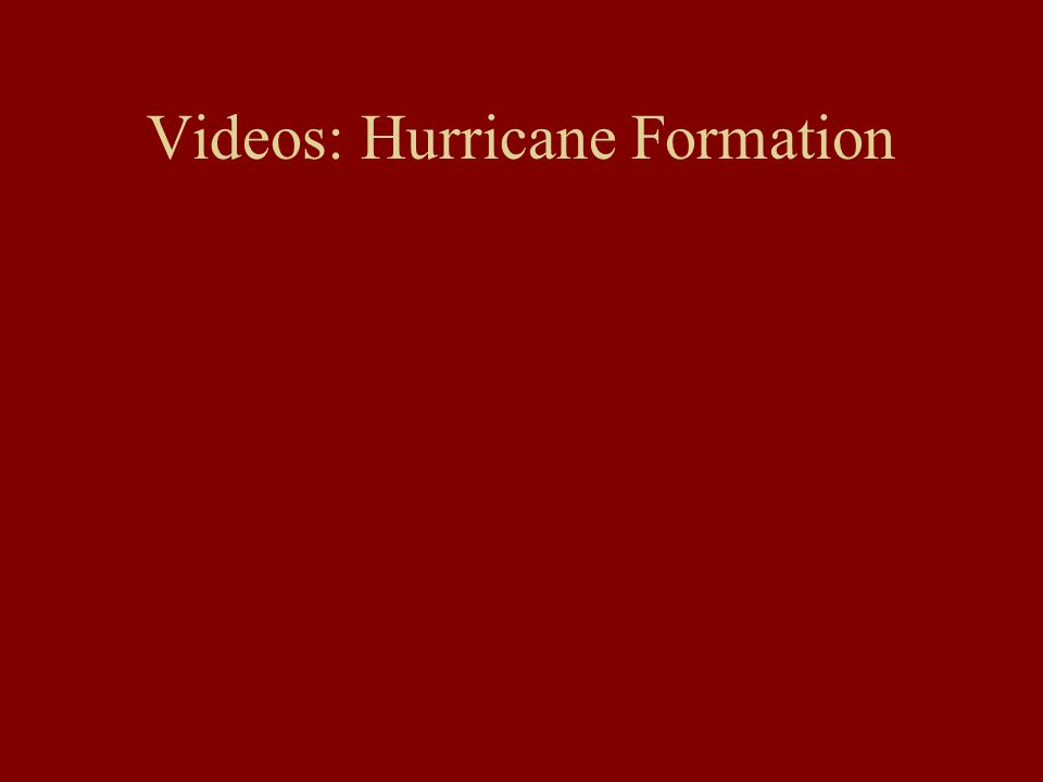 Videos: Hurricane Formation