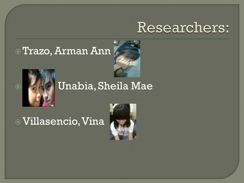  Trazo, Arman Ann  Unabia, Sheila Mae  Villasencio, Vina