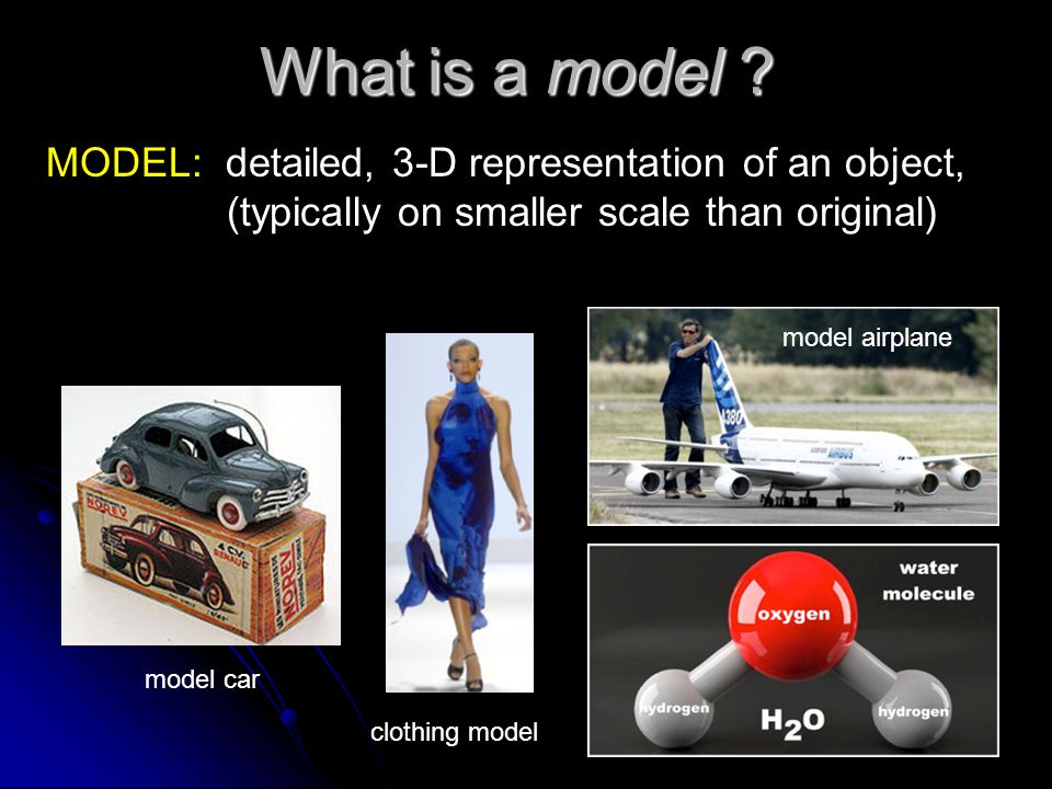 What is a model .