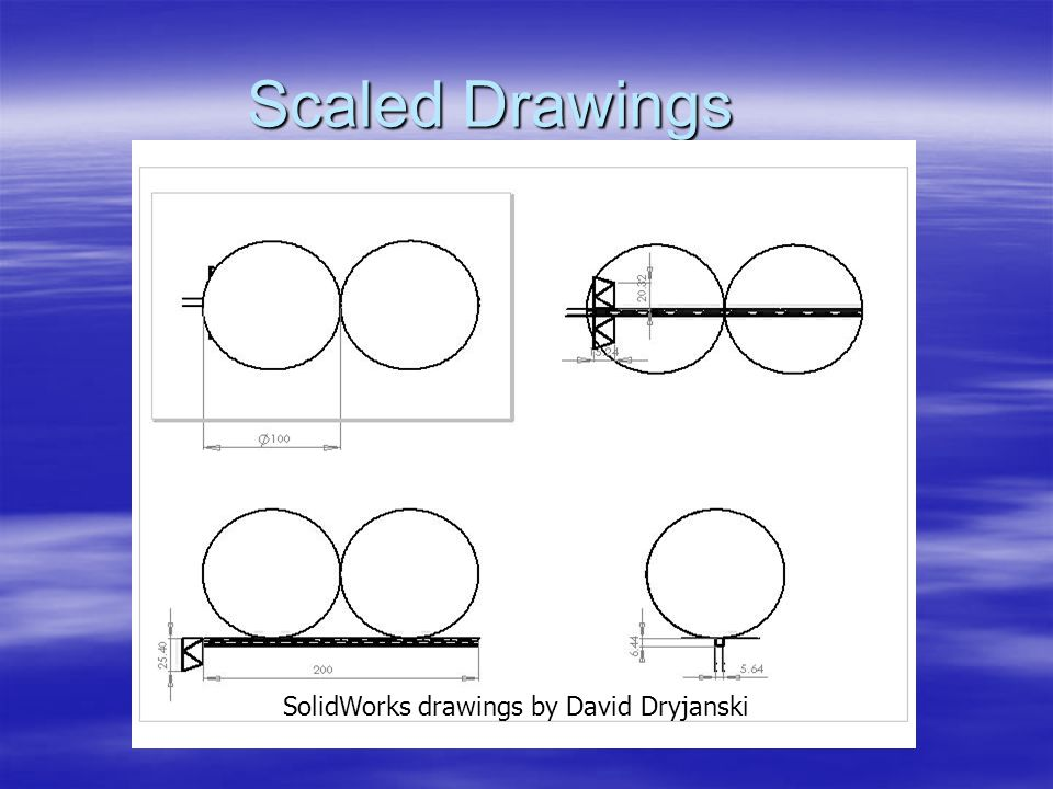 Scaled Drawings SolidWorks drawings by David Dryjanski