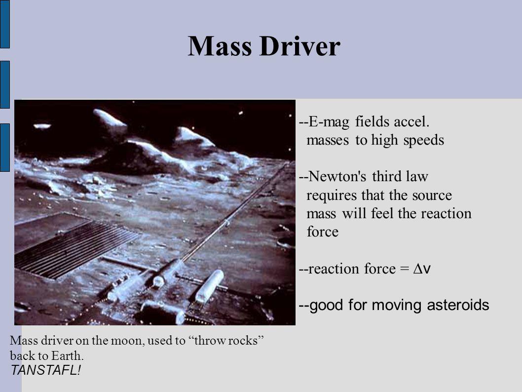 Mass Driver --E-mag fields accel.