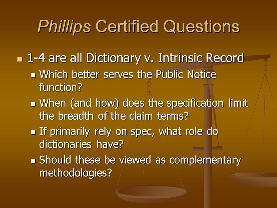 Phillips Certified Questions 1-4 are all Dictionary v.
