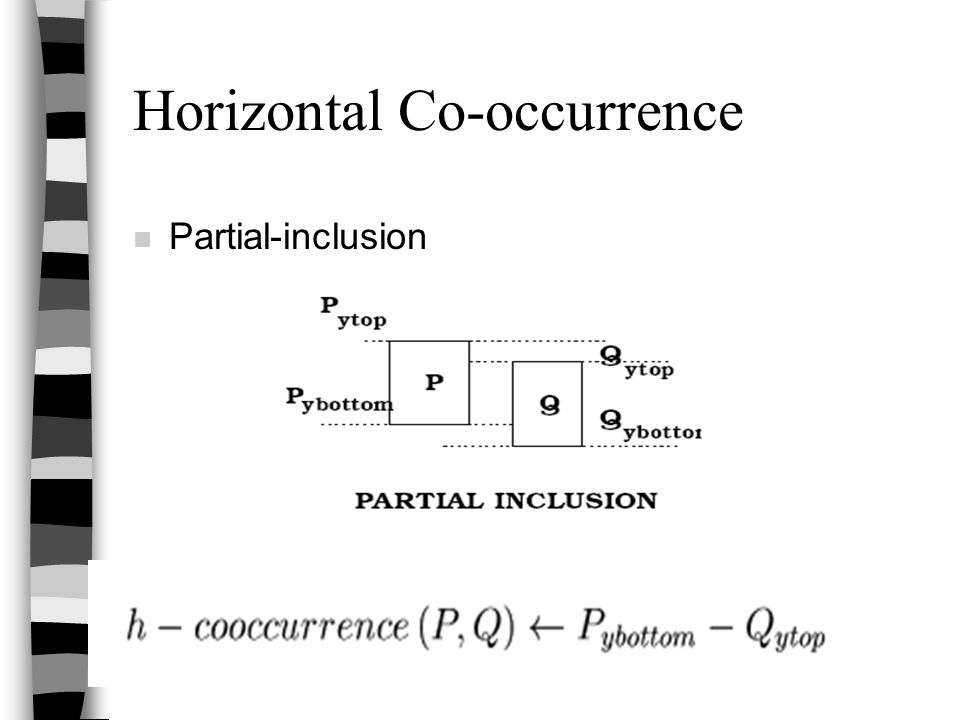Horizontal Co-occurrence n Partial-inclusion